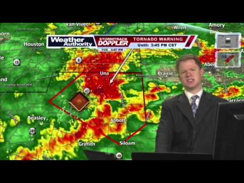 WTVA Tornado Coverage 2/2/2016 -  3pm - 4pm