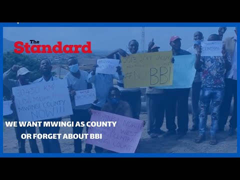 We want Mwingi as a County on its own or forget about BBI support -Mwingi residents
