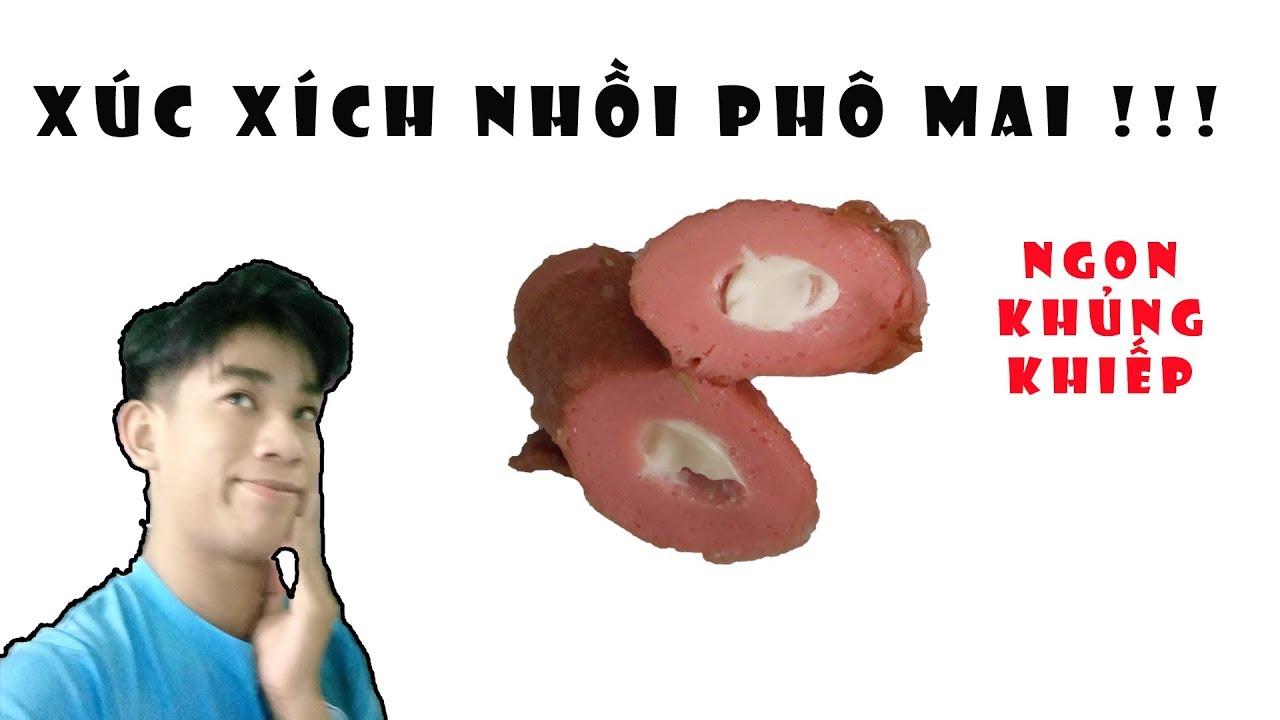 LÀM XÚC XÍCH NHỒI PHÔ MAI – Sausages stuffed with cheese