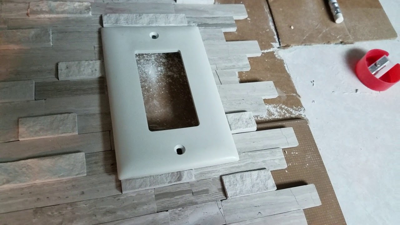 - Cutting The Raised Tiles For Switch Covers To Sit Flush - YouTube