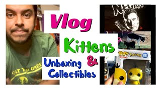 Vlog - Kittens Update and Unboxing Collectibles Artist Vlog (A Day in My Life) Unboxing Videos #nerd