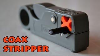 Coax stripper \ Нож для коаксиального кабеля \ AliExpress(Распаковка и обзор ножа для коаксиального кабеля купленного на AliExpress. Чрезвычайно удобная штука. С ней..., 2015-09-22T04:06:01.000Z)