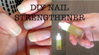 DIY NAIL STRENGTHENER(natural)!!!