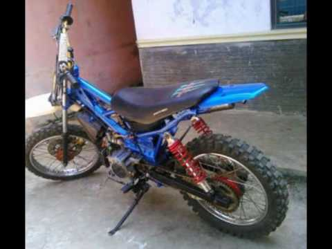 Video Motor Bebek Yamaha 2Tak F1zr Modif Trail  Gasstrack Sok Depan Rx King Mesin Standar  YouTube