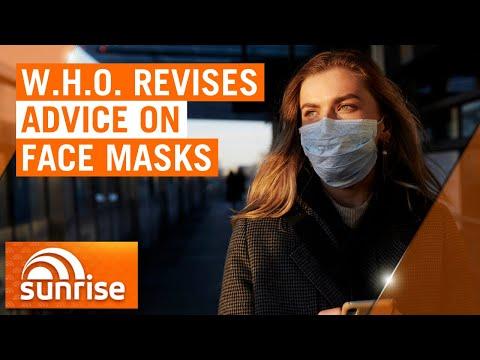 Coronavirus: World Health Organisation's new advice on face masks in public | 7NEWS