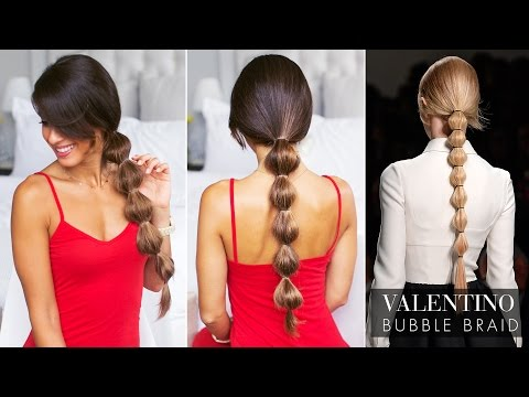 Valentino Bubble Ponytail Tutorial