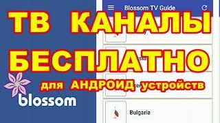 ТВ КАНАЛЫ  БЕСПЛАТНО !  Blossom TV Guide для андроид