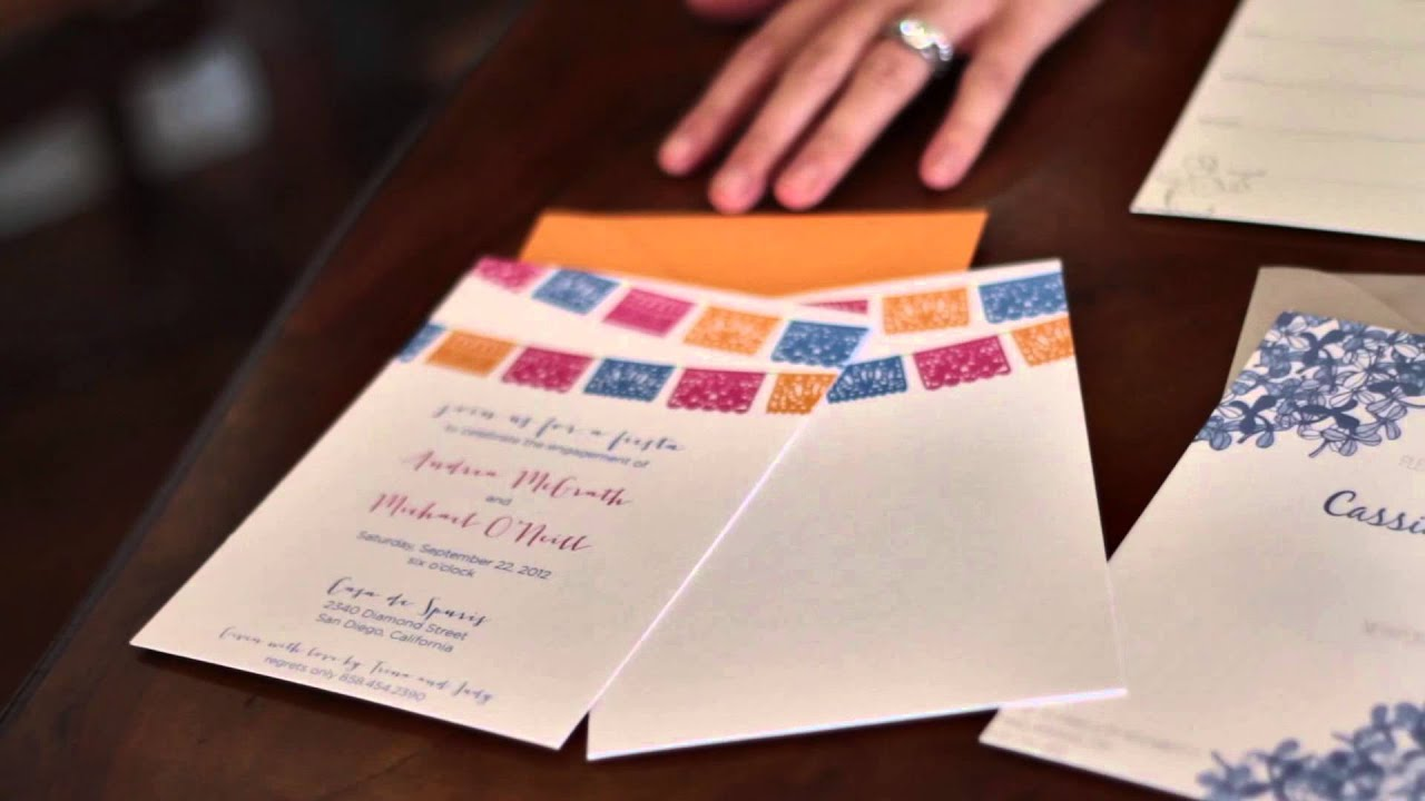 How to Make Your Own Invitations for an Engagement Party : DIY ...