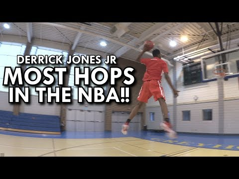 MOST HOPS IN THE NBA!! DERRICK JONES JR OF THE MIAMI HEAT SICK DUNKS  - UNSEEN FOOTAGE