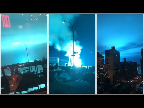 Kathi Yeager - Eerie Blue Light Fills NYC Sky