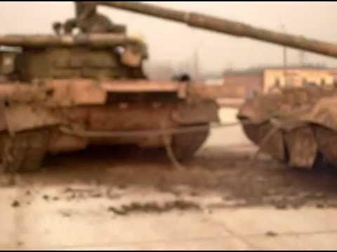 Буксировка танка Т-80 УД