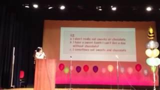 英語教室の発表会で、滝川クリステルばりにニュースを読みました! 是非...