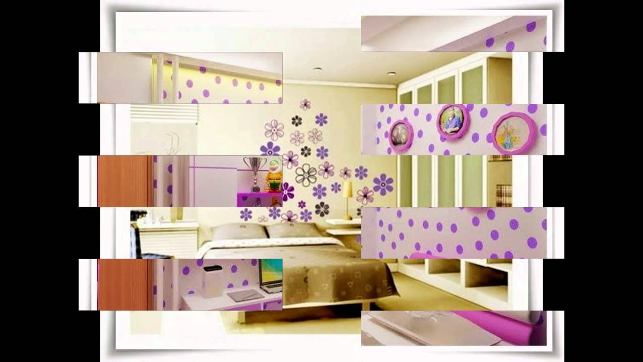 Desain Wallpaper Dinding Kamar Tidur - YouTube