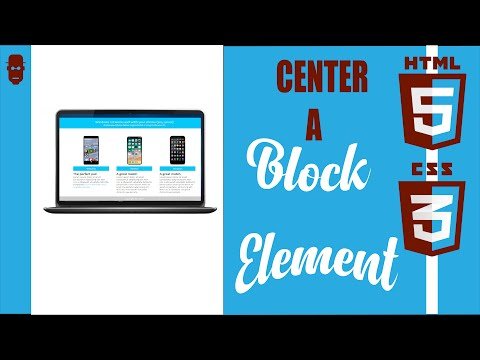 Center Block Element On A Page Using HTML And CSS