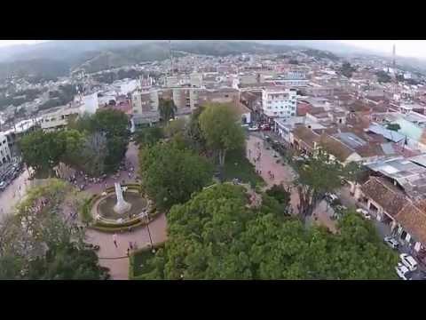 Vuelo Drone Ocaña Norte de Santander 200mts sobre parque principal