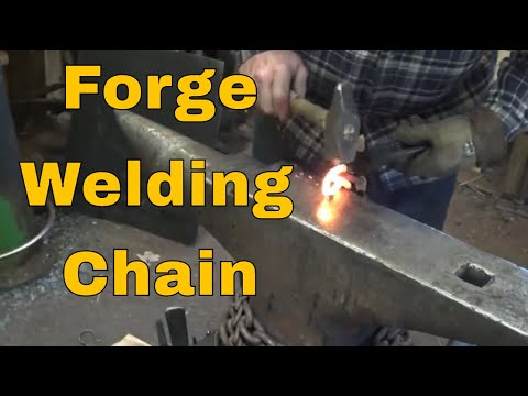 Forge welding - scarf theory and making chain
