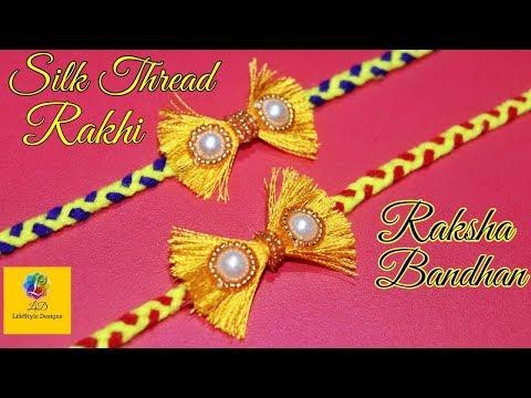 How to make rakhi at home | raksha bandhan | silk thread rakhi | tutorial | LifeStyle Designs