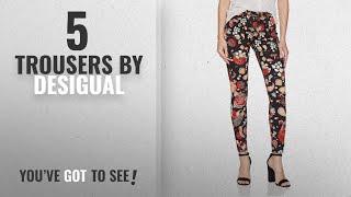 Top 10 Desigual Trousers [2018]: Desigual Women's Erika Casual Pants