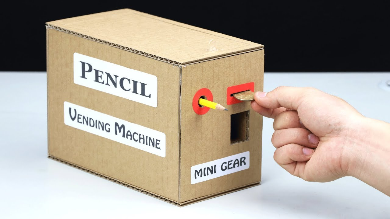 How to Make PENCIL Vending Machine - YouTube