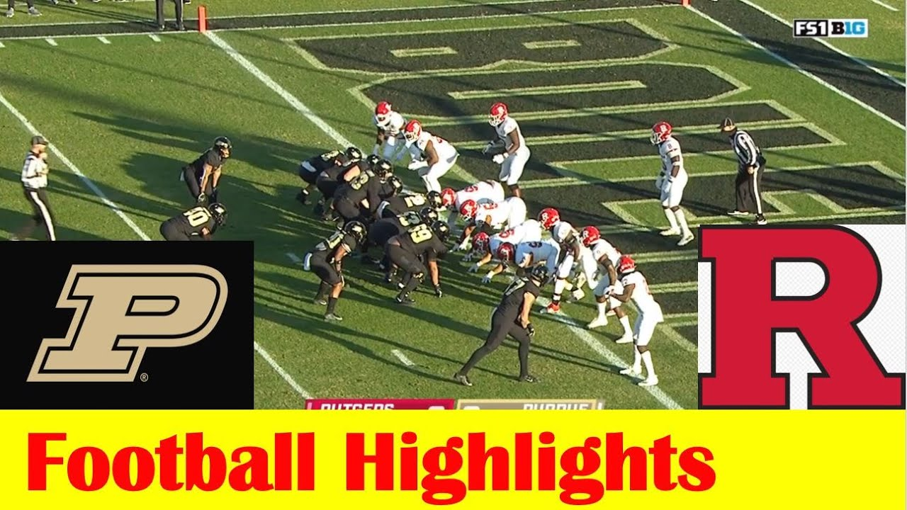Rutgers vs Purdue Football Game Highlights 11 28 2020