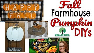 FALL FARMHOUSE PUMPKIN DOLLAR TREE DECOR DIYS