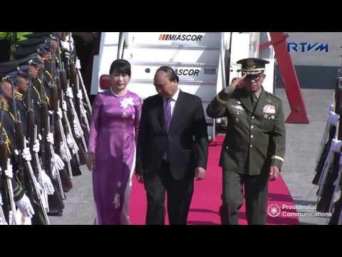 Arrival of Socialist Republic of Vietnam Prime Minister Nguyen Xuan Phuc 4/28/2017