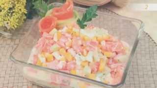 Книга рецептов  Деликатесный салат из семги