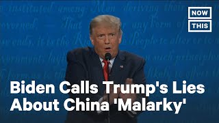 Debate: Biden Calls Out Trump's Lies About China | NowThis