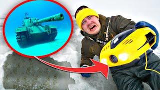 Нашли танк и другие жуткие находки под водой с помощью подводного дрона