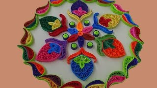 Paper Quilling | Simple And Easy Rangoli Designs