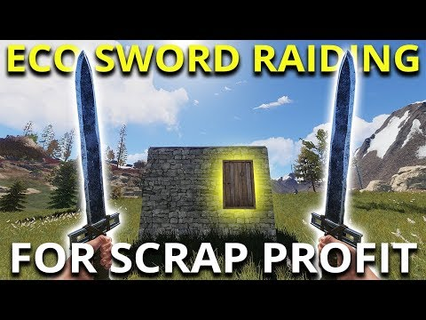 SWORD ECO RAIDING FOR SCRAP PROFIT! - Rust Solo Survival Gameplay