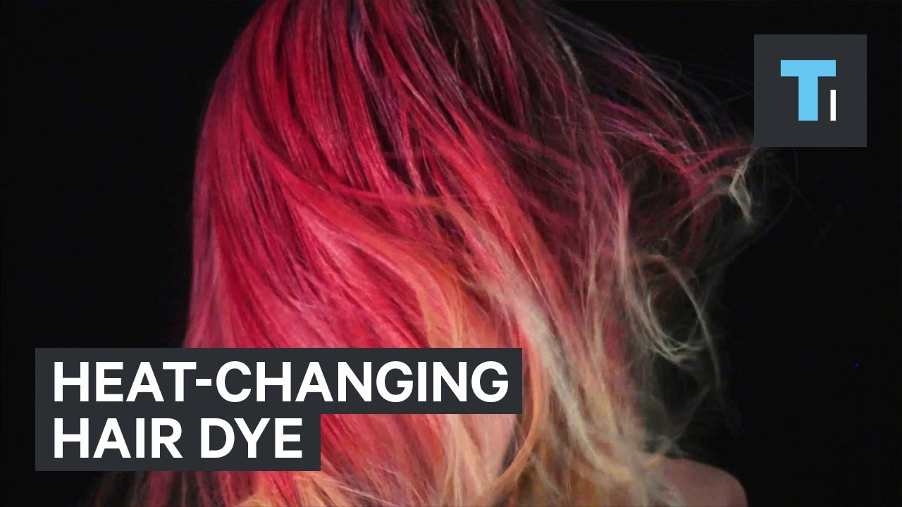 Heat Activated Paint Fire Dye Changes The Color Of Your Hair Based On Heat Youtube