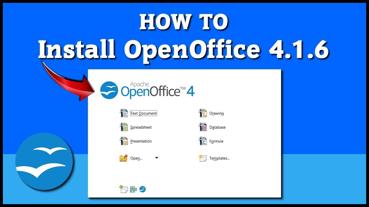 How To Install Open Office 4 1 6 On Windows 10 Tutorial Youtube