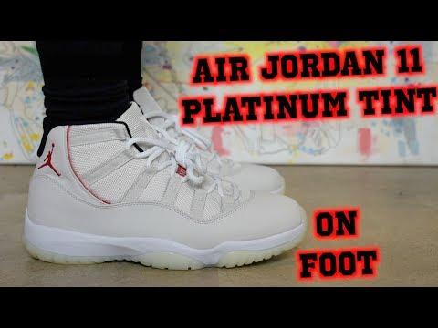 Air Jordan 11 Retro Platinum Tint ON FOOT