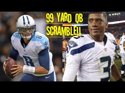 WHO CAN GET A 99YD QB SCRAMBLE FIRST?!? MARCUS MARIOTA VS RUSSELL WILSON!! HOLY MOLY!!