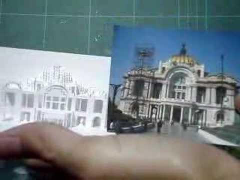 3d Business Card Bellas Artes Palace Mexico City Pop Up Paper Craft