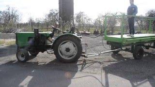 Zdalne sterowanie ciągnikiem z platformy sadowniczej (Ursus) Remote control of the tractor