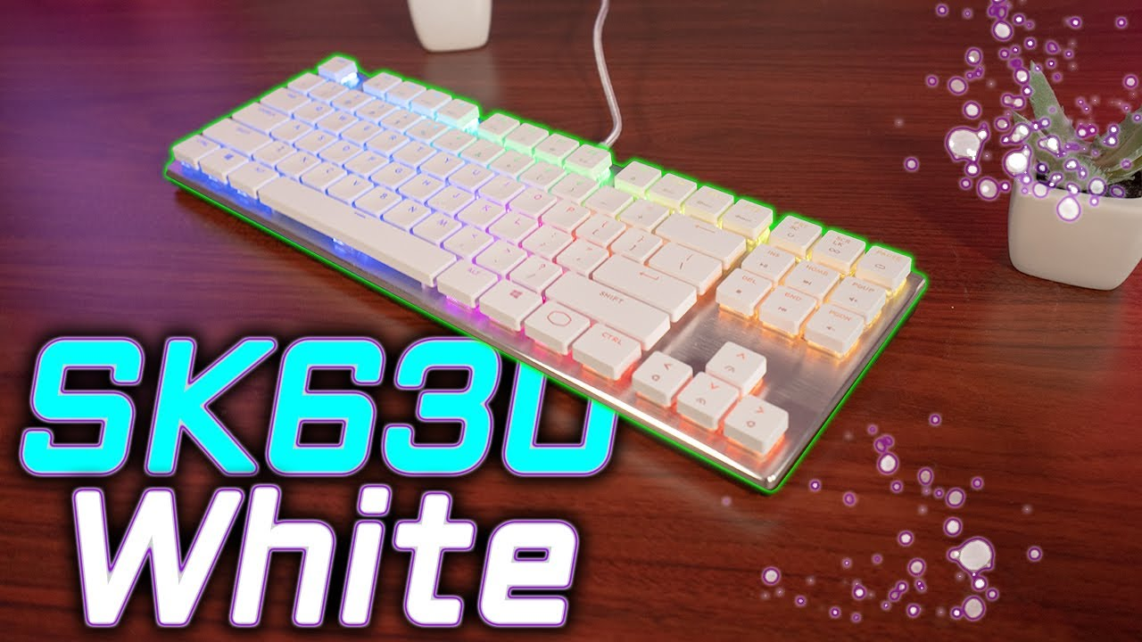 New Cooler Master Sk630 Limited Edition White Keyboard Review Youtube