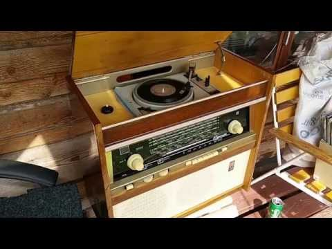 """Rigonda"" record player-Radio from Latvia"