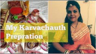 मेरी करवा चौथ 2017 की तैयारी । MY KARWACHAUTH PREPARATIONS DRESS, JEWELLRY, MAKEUP, POOJA ITEMS