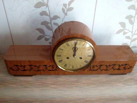 Часы каминные,настольные с боем Янтарь 1978год