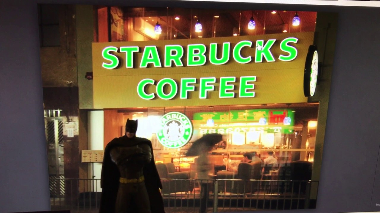6e498bb1ffb08 Batman goes to Starbucks o!!! - YouTube