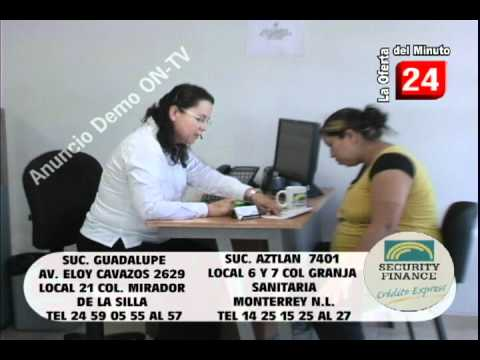 Security Finance comercial ON-TV Television Monterrey