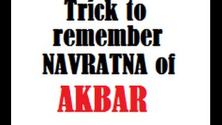Trick to remember NAVRATNA of AKBAR