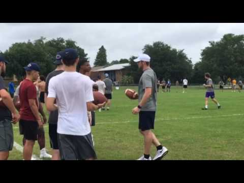 Watch LSU QB Danny Etling coach campers at Manning Passing Academy