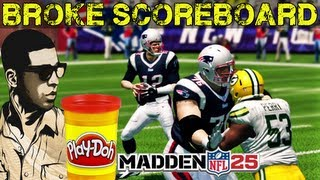"Madden NFL 25 - Tom Brady "" WE BROKE THE SCOREBOARD "" Crazy ! Madden 25 - Online Ranked Match"