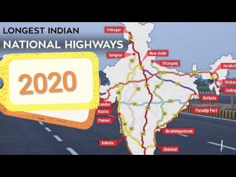 Top 10 Longest National Highways in India 2019
