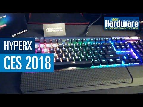 HyperX: Aluminium-Tastatur mit Speicher, RGB-Maus und Headset   PCGH @ CES 2018
