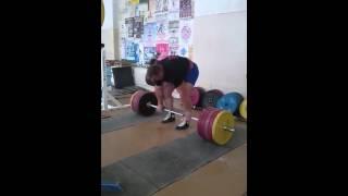 Александр Клюшев, становая тяга   250 кг на 20 раз!