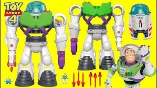 Disney Pixar Imaginext TOY STORY 4 Buzz Lightyear ROBOT Rocket Spaceship